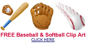 free baseball and softball clip art image