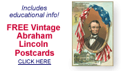 free vintage Abraham Lincoln postcards