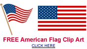 free American flag clip art