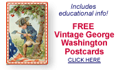 free vintage George Washington post cards