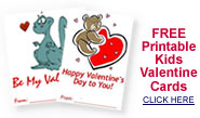 free downloadable kids valentine cards