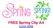 free spring clip art