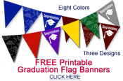 printable graduation party flag banners