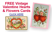 free Victorian Valentines cards -- hearts and flowers