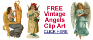 free vintage Christmas angel clipart