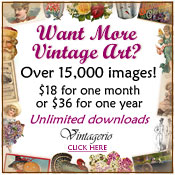 Vintagerio vintage clip art