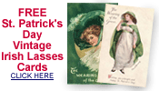 free vintage St. Patrick's Day pretty women cards