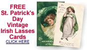 free vintage St. Patrick's Day pretty women cards
