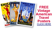 free American vintage travel posters