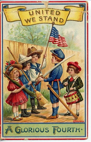 free american flag clip art. Free 4th of July Vintage