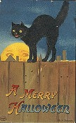 vintage-Halloween-black-cat-fence-full-moon-card