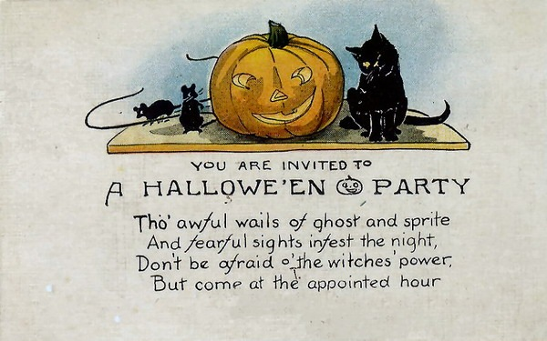 halloween clipart invitations - photo #1