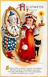 vintage-Halloween-clown-little-girl-candle-card