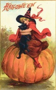 vintage-Halloween-witch-black-cat-pumpkin-card