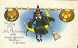 vintage-Halloween-witch-black-cat-pumpkin-half-moon-postcard