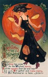 vintage-Halloween-woman-pumpkin