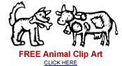 Free black and white animal clip art