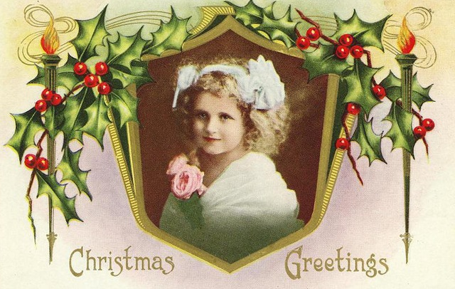 these christmas greeting cards  e from authentic vintage images and