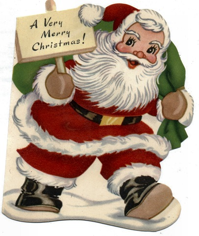 For more holiday vintage images see our vintage santa claus