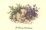 vintage-Christmas-card-brown-puppy