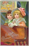 vintage_Christmas_card_two_little_girls_church