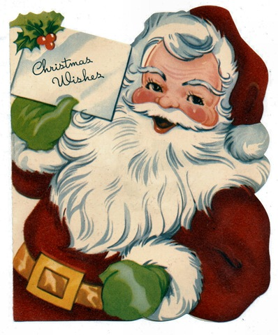 Santa claus christmas cards free vintage santa clip art and santa