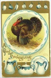 vintage Thanksgiving cards turkey in kitchen
