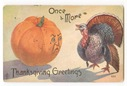 vintage Thanksgiving turkey and Halloween pumpkin