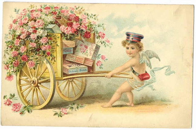 Free Clip Art from Vintage Holiday Crafts Blog Archive Free – Victorian Valentine Card