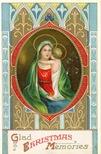 vintage christmas card Jesus and Mary ornate