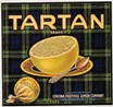 vintage fruit crate label Tartan Brand Corona Foothill Lemon Company