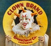 vintage fruit crate labels Clown Brand Sparr Fruit