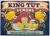 vintage fruit crate stickers King Tut brand Johnston Fruit Company