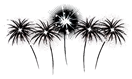 black and white fireworks clip art 1