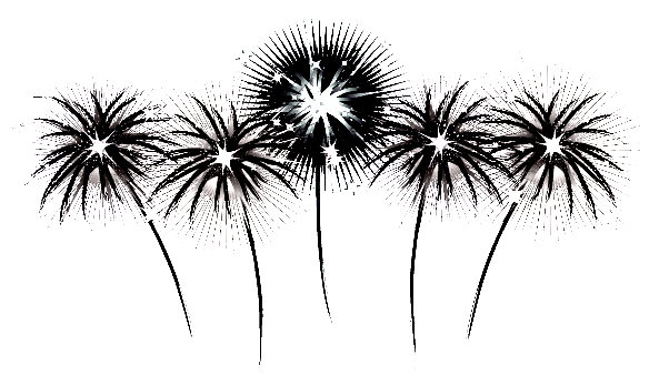 black and white clip art flowers. 4th of July Black and White Free Clip Art