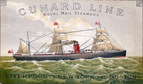 free nautical clip art Cunard Line ship at sea