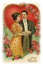 free Victorian couple valentine clip art