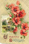 free vintage birthday cards farm scene poppies
