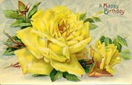 free vintage birthday cards yellow roses