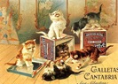 free vintage cats climbing on boxes
