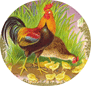 free vintage Easter clip art chickens baby chicks