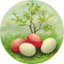 free vintage Easter eggs clip art