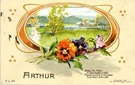 free vintage flowers clip art multi-colored poppies and countryside scene