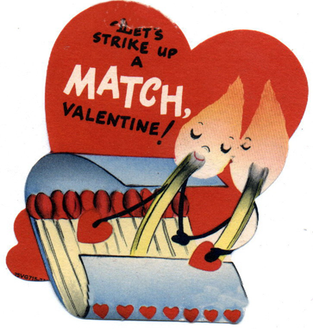 Free Vintage Kids Valentine Cards Lets Strike Up A Match ...