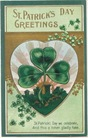 free vintage st patricks day shamrock card with castle and heart