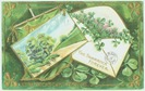 free vintage st patricks day shamrocks envelope and painting