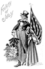 free vintage Uncle Sam fourth of july patriotic clip art