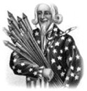 free vintage UncleSam clip art with fireworks