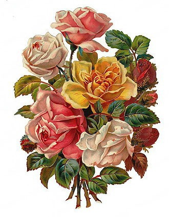 Flower Websites on Free Clip Art From Vintage Holiday Crafts    Blog Archive    Free Clip