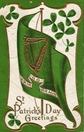 St. Patricks Day flag erin go bragh shamrocks